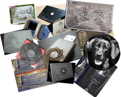Collage of Engraving Projects